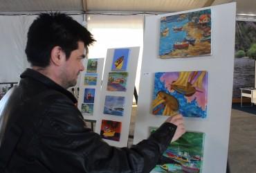 Con hermosas obras pictóricas alusivas a Angelmó y Puerto Montt serán recibidos turistas que lleguen al puerto de Empormontt